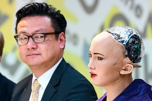 Sophia Robot at a conference